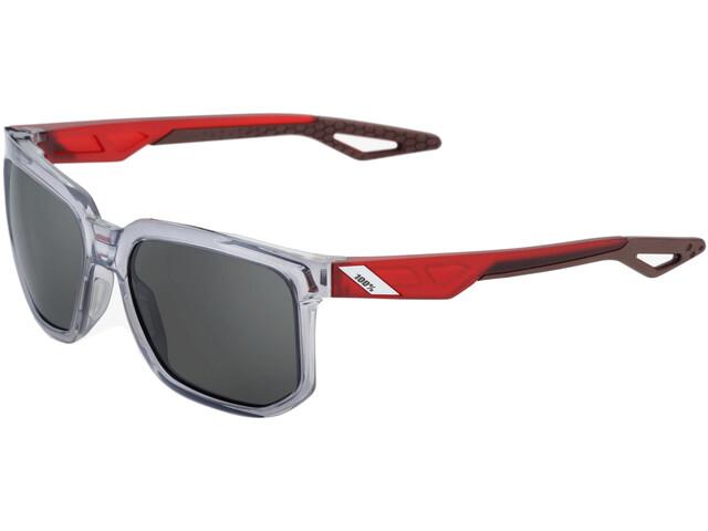 100% Centric Smoke Glasses Polished Crystal Grey